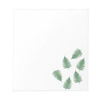 Stylish Lucky Green Fern Notepad