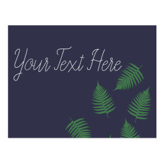 Stylish Lucky Green Fern Postcard