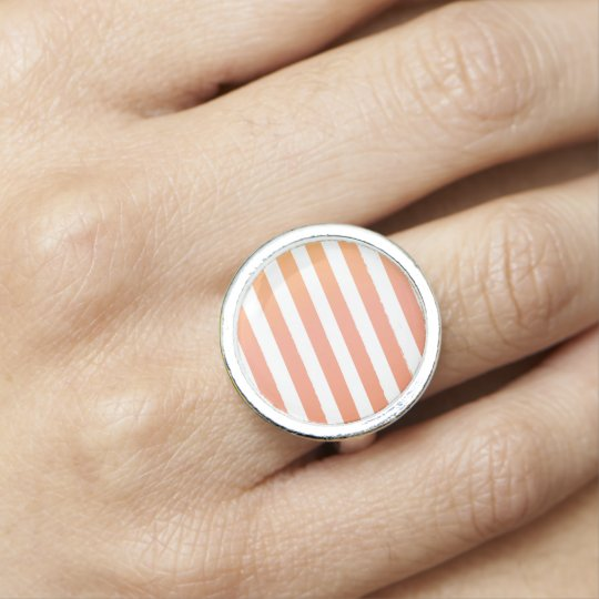 Stylish magical old-striped vintage ladies ring