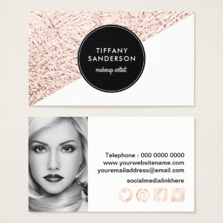 Stylish Makeup Artist Business Card Template