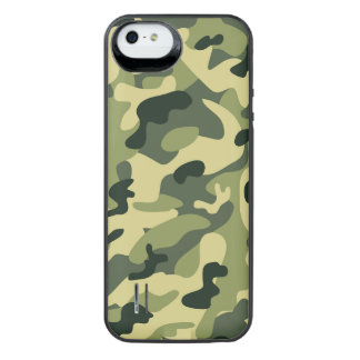 Stylish Manly Camouflage Camo Military Pattern Uncommon Power Gallery™ iPhone 5 Battery Case