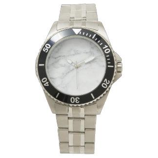 stylish marbled  wrist watch