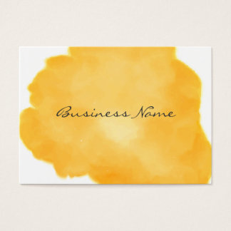 Stylish Medium Orange Swish of Color Business Card
