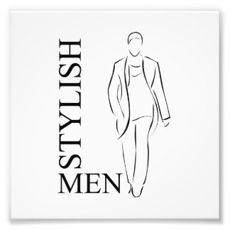 Stylish men art photo