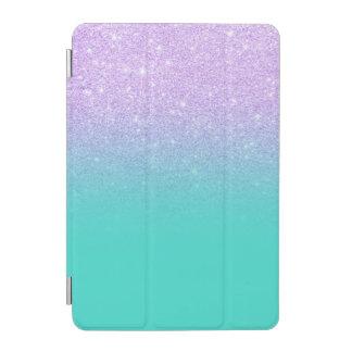 Stylish mermaid lavender glitter turquoise ombre iPad mini cover