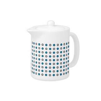 Stylish Metallic Blue and Silver Polka Dot Pattern
