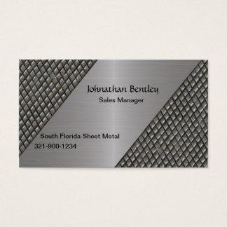 Stylish Metallic Look Brushed Aluminum Business Card