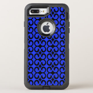 Stylish Midnight Blue and Black Pattern OtterBox Defender iPhone 7 Plus Case