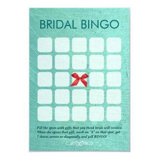 Stylish Mint Green 5x5 Bridal Bingo Cards
