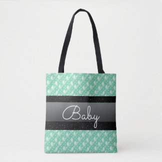 Stylish Mint Green Polka Dots and Spots Baby Bag