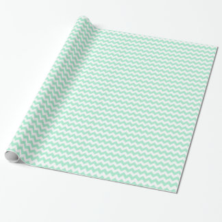 Stylish mint green zig zags zigzag chevron pattern