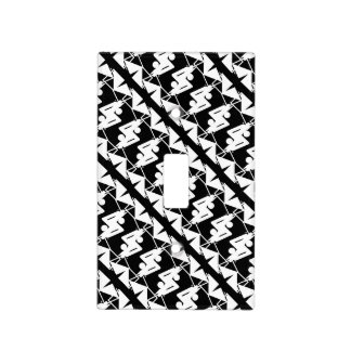 Stylish Mirrored Geometric & Abstract Pattern Light Switch Cover