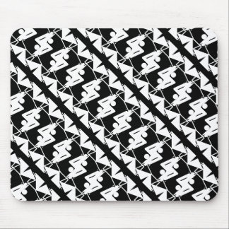 Stylish Mirrored Geometric & Abstract Pattern Mouse Pad