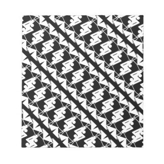 Stylish Mirrored Geometric & Abstract Pattern Notepad