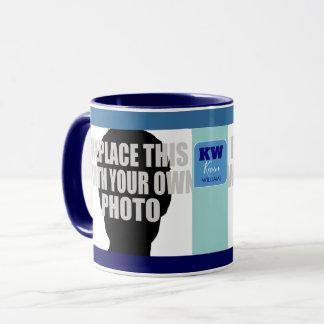stylish & modern 2 photos (upload & be creative) mug