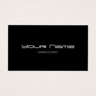 Stylish Modern Business Cards (Black)