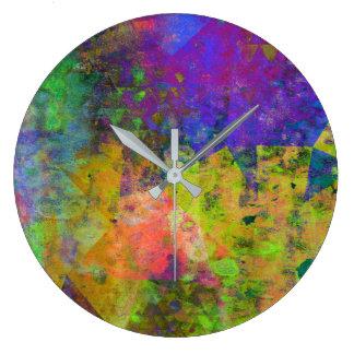 Stylish Modern Chic Watercolor Design Wall Clock