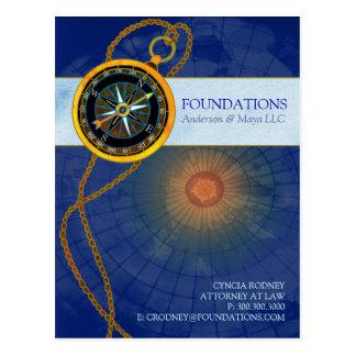 Stylish Modern Compass Business Promotion Postcard