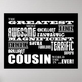 Stylish Modern & Fun Cousins : Greatest Cousin Poster