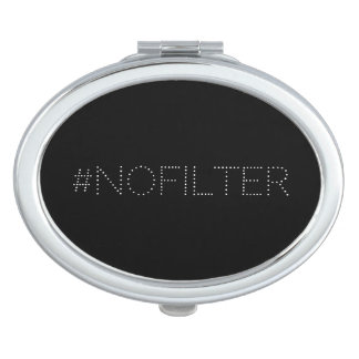 Stylish Modern Funny #nofilter Compact Mirror