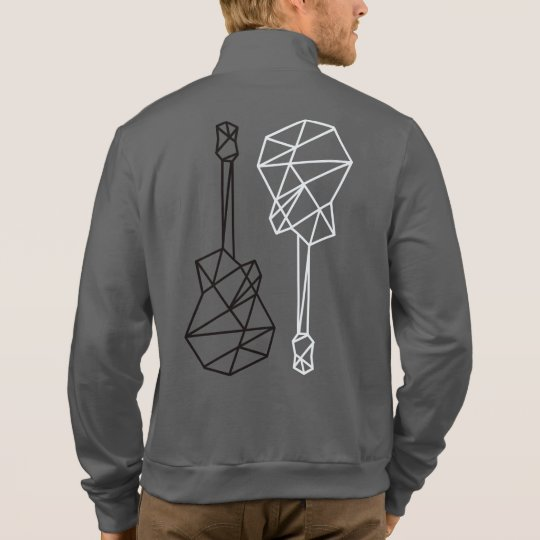 stylish & modern geometric guitars music jacket
