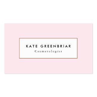 Stylish Modern Light Pink Cosmetology Business Card