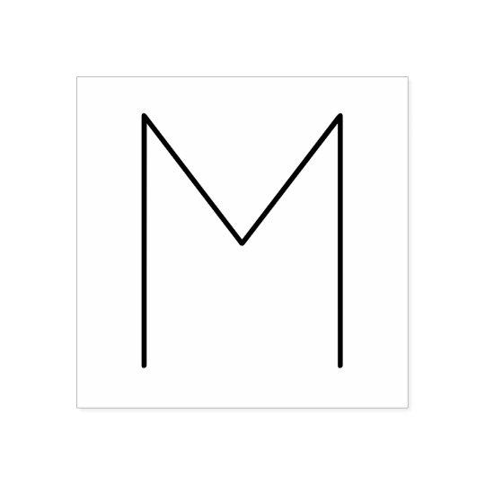 Stylish Modern Minimalist Monogram Rubber Stamp