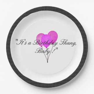 Stylish-Modern-Party_Birthday_Black-Plaid 9 Inch Paper Plate