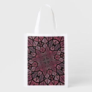 Stylish modern pattern reusable grocery bag