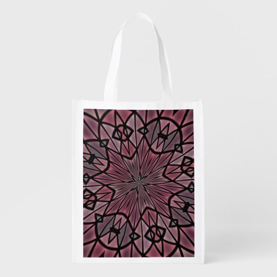 Stylish modern pattern reusable grocery bag