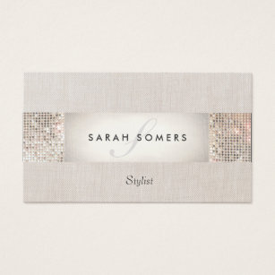 Beauty business cards business card printing zazzle ca stylish modern silver sequin monogram beauty business card colourmoves Image collections
