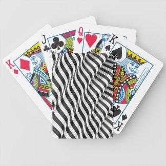 Stylish modern striped 3d ripple design poker deck