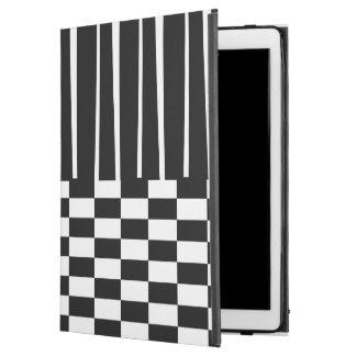 Stylish modern stripes and checks ipad pro folio c