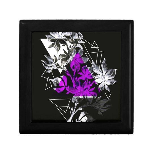 Stylish modern triangle floral illustration gift box