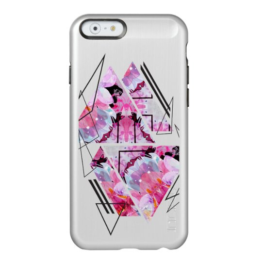 Stylish modern triangle floral illustration incipio feather® shine iPhone 6 case