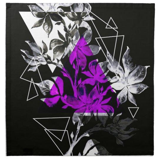 Stylish modern triangle floral illustration napkin