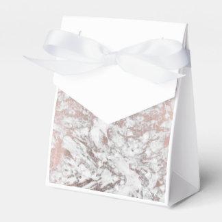 Stylish modern white faux rose gold elegant marble favor box