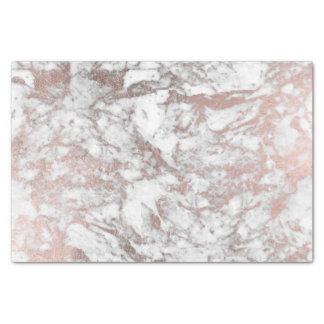 Stylish modern white faux rose gold elegant marble tissue paper