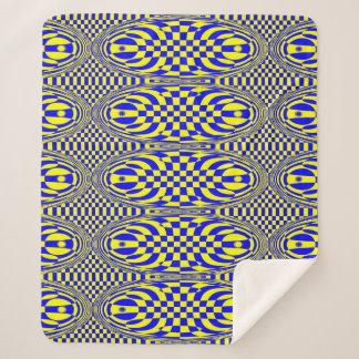Stylish modern Yellow Blue Sherpa Blanket