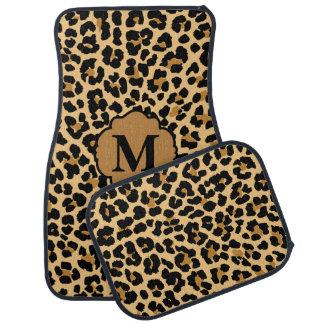 Stylish Monogram Leopard Print Custom Car Mats