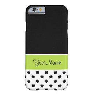 Stylish Monogram Polka Dot Barely There iPhone 6 Case