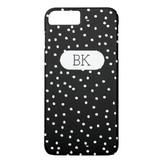 Stylish Monogram Polka Dot Style iPhone 8 Plus/7 Plus Case