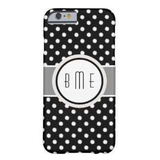 Stylish Monogram Polka Dots Barely There iPhone 6 Case