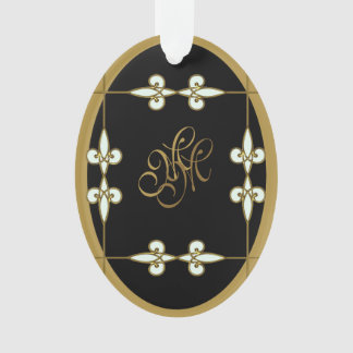 Stylish Monogram Victorian Vintage Art Nouveau Ornament