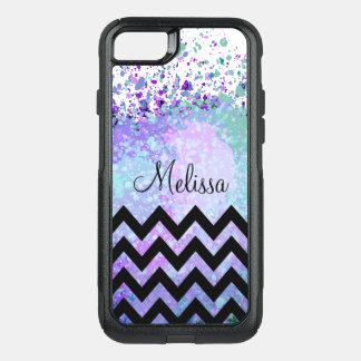 Stylish Monogrammed Chevron Pattern OtterBox Commuter iPhone 8/7 Case
