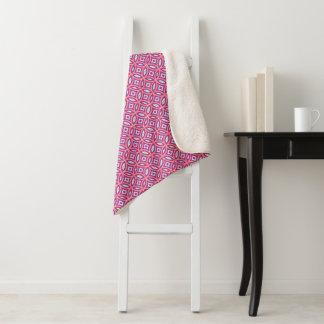 Stylish Moroccan Tile Pattern Sherpa Blanket