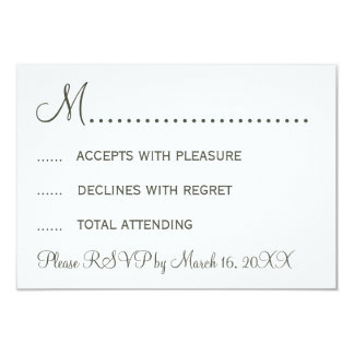 "Stylish Mustache and Lips RSVP 3.5"" X 5"" Invitation Card"