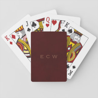 * Stylish Named Mottled Brown Playing Cards