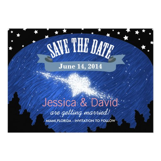 Stylish Night Sky Stars Save the Date Cards
