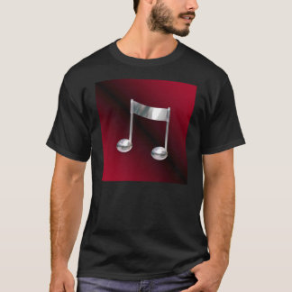 Stylish Notes in Red Music Tee